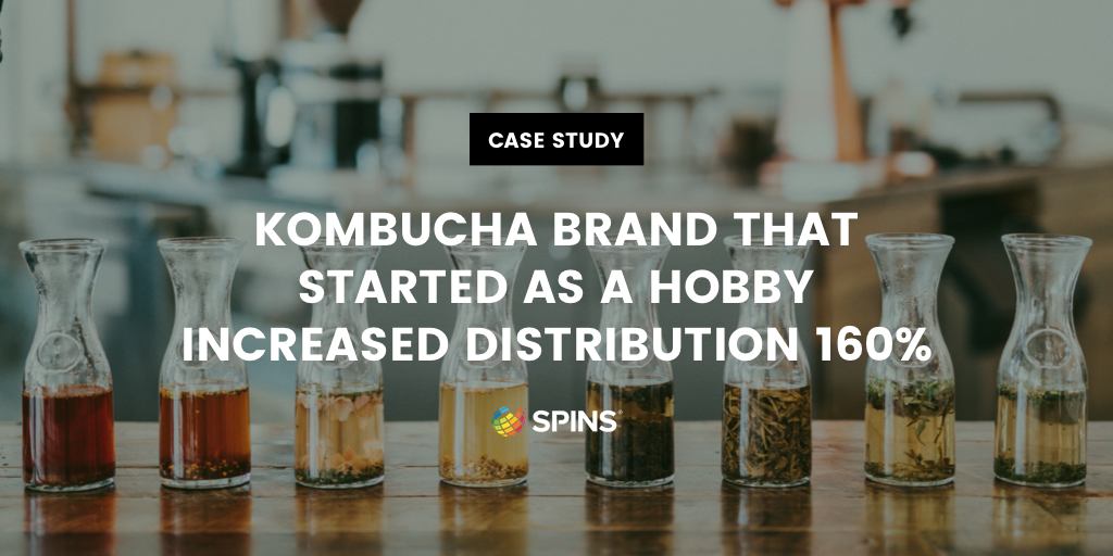 SPINS data helps a kombucha company grow by 65%
