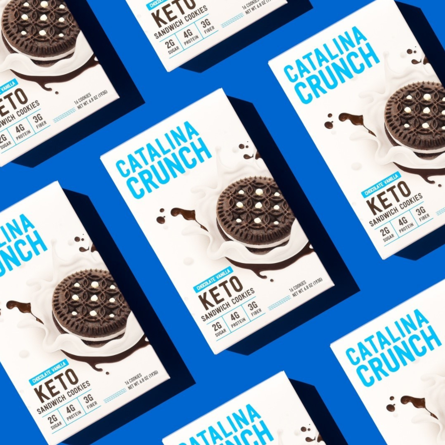 image of Catalina Crunch keto friendly sandwhich cookies