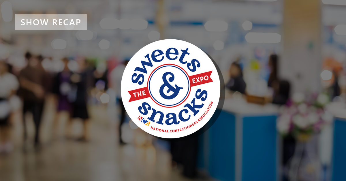 Image of the Sweets and Snacks logo used for a show recap