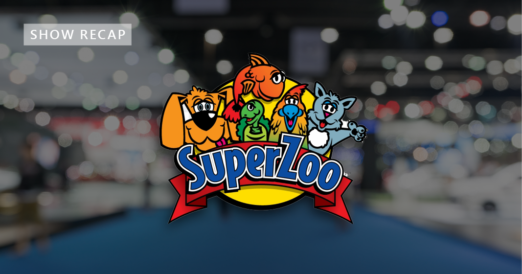 image of tradeshow floor with SuperZoo logo to reflect the show recap