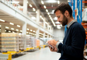 category manager,Holding,Digital,Tablet,In,Warehouse